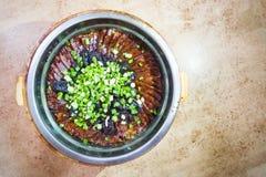 Arroz pegajoso del chino tradicional con la delicadeza encerada de la salchicha Fotos de archivo