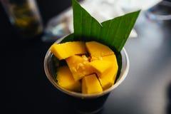 Arroz pegajoso del mango Imagen de archivo