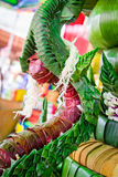 Arroz que ofrece para la adoración en buddhism Foto de archivo
