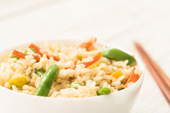 Arroz saudável apetitoso com vegetais Fotografia de Stock Royalty Free