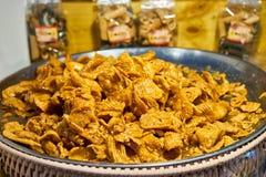 Arroz tailandês da sobremesa no mercado Banguecoque Tailândia Foto de Stock