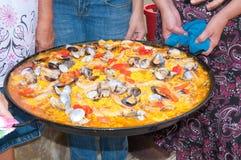 Arroz valenciano del paella Foto de archivo libre de regalías