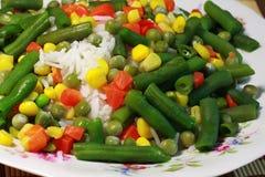 Arroz, vegetais, risotto - alimentação saudável Imagem de Stock