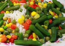 Arroz, vegetais, risotto - alimentação saudável Fotos de Stock Royalty Free