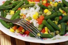 Arroz, vegetais, risotto - alimentação saudável Fotos de Stock