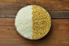 Arroz y arroz Imagen de archivo