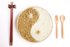 Arroz y arroz en el plante Fotografía de archivo