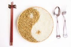Arroz y arroz en el plante Imagen de archivo libre de regalías