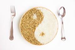 Arroz y arroz en el plante Imagen de archivo