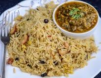 Arroz y curry Imagen de archivo libre de regalías