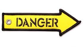 Arrrow del pericolo Fotografie Stock
