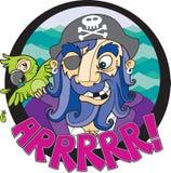 Пират и его попыгай Стоковые Изображения RF