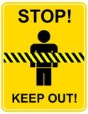 Arrêtez, empêchez d'entrer - le signe Photo stock
