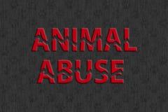 Arrêtez l'abus animal Photos stock