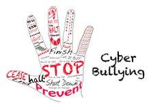 Arrêtez l'intimidation de cyber Images stock