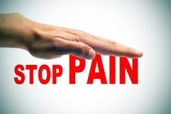Arrêtez la douleur Photos libres de droits