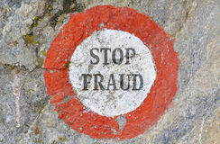 Arrêtez la fraude Images stock