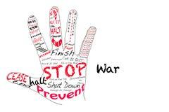 Arrêtez la guerre Images stock