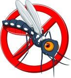 Arrêtez le dessin animé de moustique Images stock