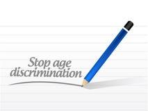arrêtez le message de discrimination fondée sur l'âge Photo libre de droits