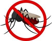Arrêtez le personnage de dessin animé de moustique Image stock