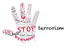 Arrêtez le terrorisme Image stock