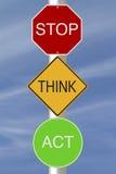 Arrêtez pensent l'acte Photo libre de droits