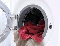 Arruela com toalhas Fotografia de Stock