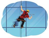Arruela de janela ilustração stock