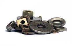 Arruela e porcas das ferramentas. Fotografia de Stock Royalty Free