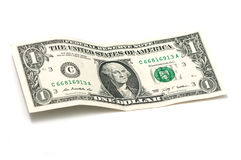 Arrugado un dólar Fotografía de archivo libre de regalías