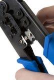 Arrugador 2 del cable de la red Imágenes de archivo libres de regalías