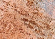 Arrugginito e corroso sul fondo del metallo Fotografia Stock Libera da Diritti