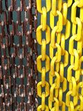 Arrugginito e giallastro Fotografia Stock