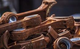 Arrugginito, strumenti del ferro Fotografia Stock Libera da Diritti