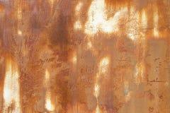 Arrugginito su superficie di vecchio ferro, su deterioramento dell'acciaio, su decadimento e sul lerciume Fotografie Stock
