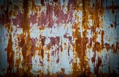 Arrugginito sulla parete d'acciaio Fotografia Stock Libera da Diritti