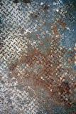 Arrugginito verniciato di piastra metallica Immagini Stock Libere da Diritti