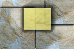 Arrugue el fondo del papel en los planos múltiples Imagenes de archivo