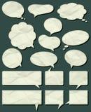 arrugue las escrituras de la etiqueta, vector Imagen de archivo libre de regalías