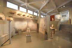 Arruina a exposição, museu archeological de Thassos Imagens de Stock