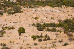 Arruina la ciudad de Jerash en Jordania/el arco de Hadrian en Jerash Foto de archivo libre de regalías