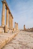 Arruina la ciudad de Jerash en Jordania/el arco de Hadrian en Jerash Fotografía de archivo libre de regalías