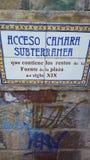Arruina la historia de la Argentina de la ciudad del mendoza de la iglesia del vino del mendoza Imagen de archivo libre de regalías