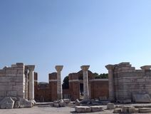 Arruina la iglesia de St John en Selcuk Turkey Foto de archivo libre de regalías