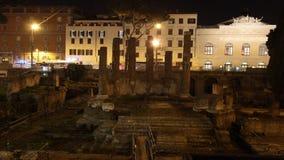 Arruina lapso de tiempo en Roma almacen de metraje de vídeo