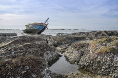 Arruina o barco da pedra Fotografia de Stock