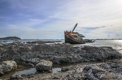 Arruina o barco do mar Foto de Stock