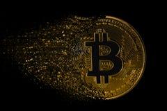 Arruinando o bitcoin fotografia de stock
