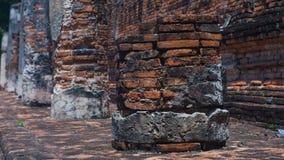Arruine colunas no templo antigo, Ayuddhaya Tailândia Fotos de Stock